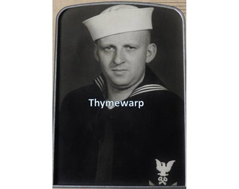 Vintage 1950's Navy Sailor Photograph