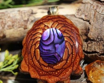 Paua Shell Third Eye Pinecone Pendant