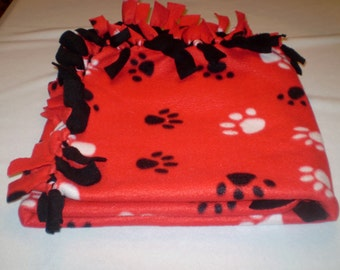 Handmade Fleece Tied Dog Blanket