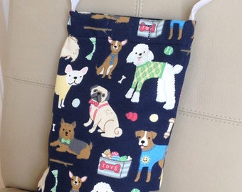 Dog Treat Bag, Dog Walkers Bag, Dog Bag, Dog Messenger Bag, Dog Print Bag, Dog Waste Bag, Dog Waste Bag Holder, Waste Bag Holder