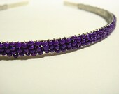Purple Beaded Headband Alice Hair Band - Pearl Collection