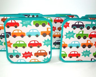 Traffic Jam Mini Cards, Square Cards 3x3, Square Tags 3 x 3, Traffic Blank Cards, Honk Beep Cards, Cars Mini Cards, Cute Cars, Colorful Cars