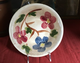 Vintage Hand Painted Ironstone Serving Bowl
