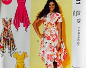 McCall's MP201/M7315 Misses' Dresses Pattern, UNCUT, Size 14-16-18-20-22, Plus Size, Party Dress, Wedding, Current Pattern