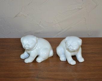 Dog Figurines Puppy Figurines Fitz and Floyd Dogs Ceramic Dog White Dog Figurines Dog Nursery Nursery Decor