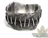 Custom Frankenstein Flesh Ring Wedding Band