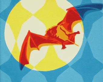 Bat Art - Bat in orange