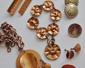 sale 12 pc GRET BARKIN  Lot - Necklace Earrings Brooches Bracelet Signed Abstract Avant Garde Artist Vintage Handwrought Studio Jewelry