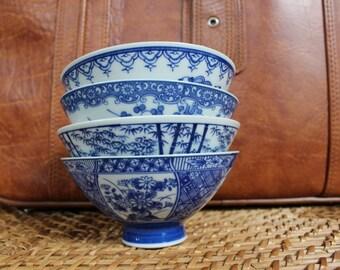 Set of 4 Japanese Rice Bowls