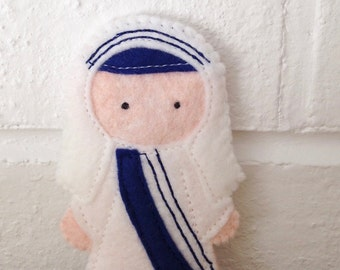 Saint Mother Teresa - Catholic Saint Toy - Finger Puppet