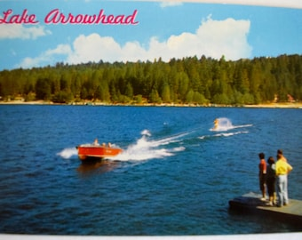 Five Vintage Lake Arrowhead California Postcards 1950s-1960s