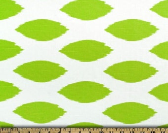 Chartreuse Ikat Pillows, King Pillow Sham Green and White Chipper  20 x 26