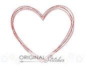 Quick Stitch Valentine's Day Heart Machine Embroidery Design File 4x4 5x7 6x10 7x11