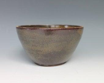 Brown Green Handmade Salad Bowl Ceramic Salad Bowl Pottery Soup Bowl Fruit Bowl