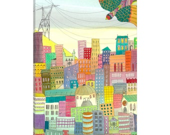 iCanvas Ma Ville Gallery Wrapped Canvas Art Print by Sylvie Demers