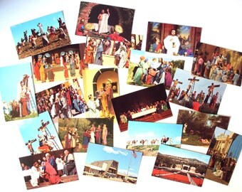 Vintage Black Hills Passion Play Postcard Set of 20, South Dakota