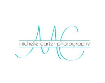 Handwritten Initials Logo and Watermark - Photography  Logo Design