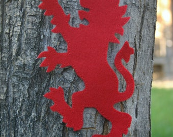 Lion Rampant Knight's Tunic, Cape or Shield Patch