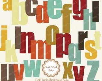 Colorful Alphabet SET - (6 inch) Clip Art