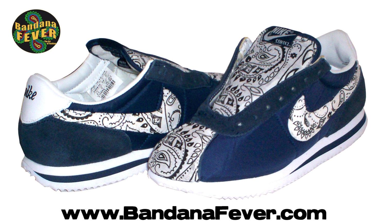 separation shoes f34a9 da348 ... inexpensive best 479cb 235bd bandana fever bandana fever custom bandana  nike cortez nylon blackwhiteroyal blue nike