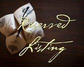Reserved Listing for mgbassignani - Cootie Catcher Wedding Programs and Menu Cards
