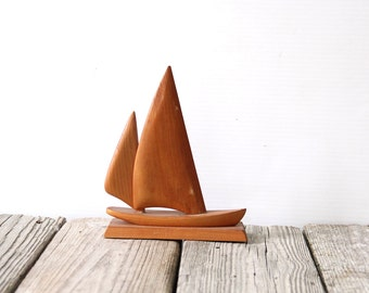 Handmade Wooden Sailboat