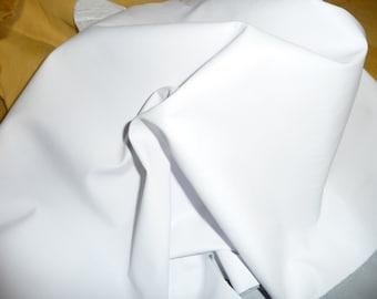 "Leather 12""x12"" THIN White PLONGE Garment Full grain Cowhide 1.75oz/.7 mm - PeggySueAlso"