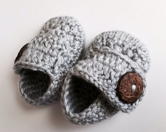Crocheted Baby Loafers