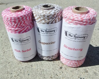 Bakers Twine - Twinery - Chocolate Strawberries THREE Pack - Your Choice of Amount