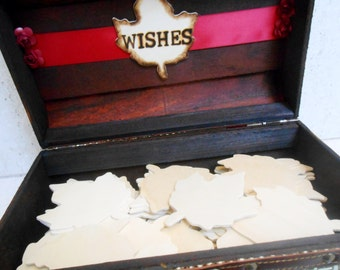 ONE of a KIND / Wedding Wishes Trunk / Wedding Wishes Box / Fall Wedding / Fall Wedding Decor / Wedding Trunk / Wedding Suitcase