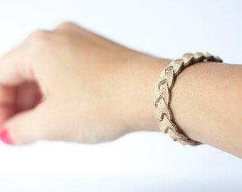 Braided Leather Bracelet / Luminous