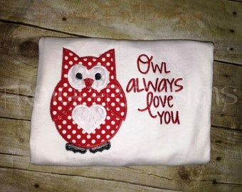 Owl Always Love You Applique TShirt