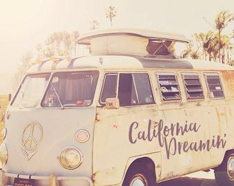 Hippie Van Print, Hippie Van Art, California Dreaming, Hippie Van, Travel Van, Hippie Van Photography, Wanderlust Art, Wanderlust Print