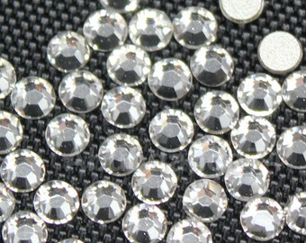Swarovski Crystal Clear 2038 / 2078 flatback Hotfix (with Glue) Iron On rhinestones - Free Shipping