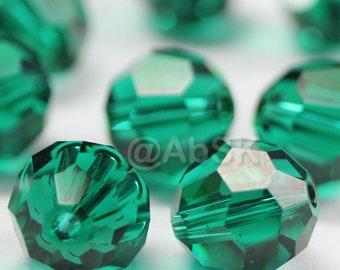 Promotion Item - 100 pcs Swarovski Elements 5000 5mm Crystal Round Beads - EMERALD (While Stocks Last)