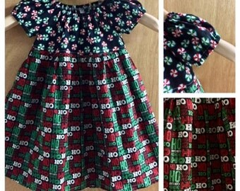 Christmas Peasant Dress, size 2t