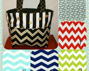 Diaper bag, handbag, purse, book bag..Gray deer N Arrows Choose Yours..Add a Name. Customize yours now.