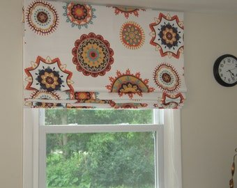 Roman-Shade-Custom-Made-To-Order  40'' wide  x 40'' long In Your Own Fabric