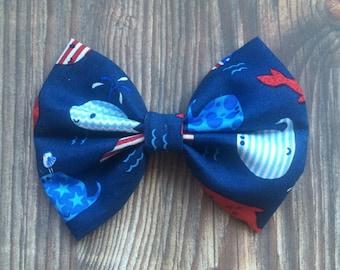 Patriotic Whale Bow