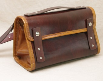 Small Leather Messenger Purse