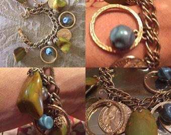 Bakelite Chain Bracelet