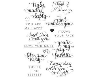Hero Arts Clear Rubber Stamp Set - You Are My Happy