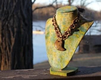 Hemp Necklace, Gemstone Pendant, Hemp Jewelry, Unisex Jewelry, Macrame Jewelry, Beaded Necklace, Macrame Hemp Necklace, Boho Style