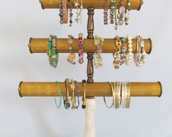 Custom Bracelet Holder | Vintage Marble Base | Bracelet Stand | Store Display | Bracelet Tree | Gifts for Her| Upcycled