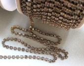 CLOSEOUT Oops! Irregular Shades of Gray 24PP Preciosa Rhinestone Chain Brass Ox (1 Yard)