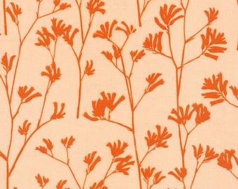 Cloud9 Organic Fabrics - Landscape - Kangaroo Paw | Orange 1/2 YD