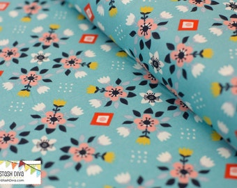 Flowerbed Blue from Birch Organic Fabric's Wildland Collection