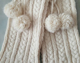Plus size cable knit legwarmers