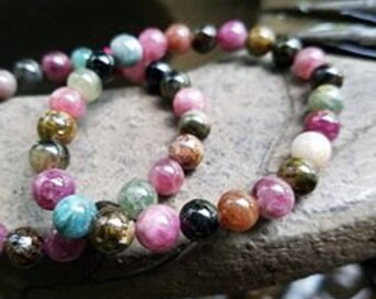 Multi-color Tourmaline bracelet~For strength and Confidence