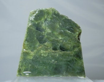 Large Lapidary Supply Jade Material Nephrite Jade Lapidary Rough Thick Slab from Jade City BC Canada 246 gram piece DanPickedMinerals